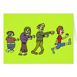 Funny Zombie Joggin' Noggin Greeting Card