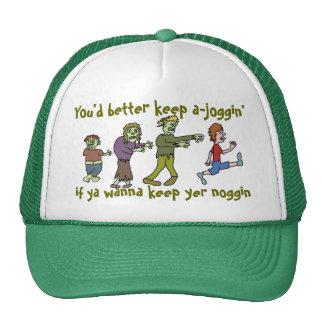 Funny Zombie Joggin' Noggin Hat