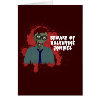 Funny Zombie Love Greeting Card