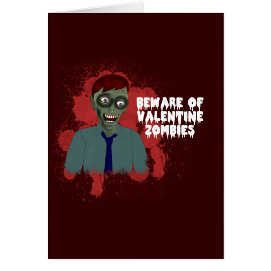 Funny zombie love greeting card zazzle
