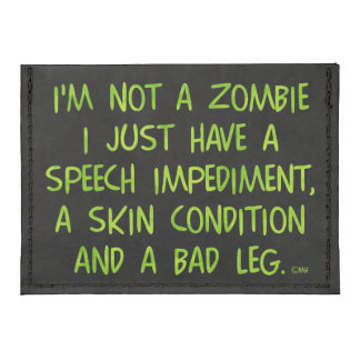 Funny Zombie Not a Zombie Green Tyvek® Card Wallet