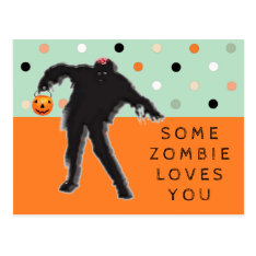 Funny Zombie Postcard at Zazzle