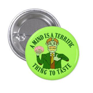 Funny Zombie Professor Proverb 1 Inch Round Button