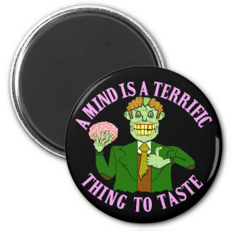 Funny Zombie Professor Proverb 2 Inch Round Magnet