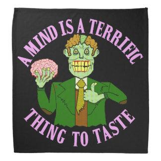 Funny Zombie Professor Proverb Bandana
