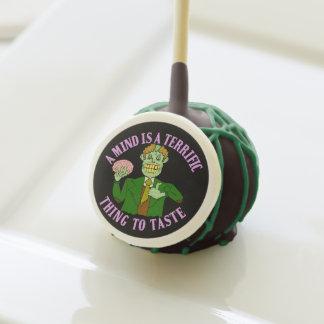 Funny Zombie Professor Proverb Cake Pops