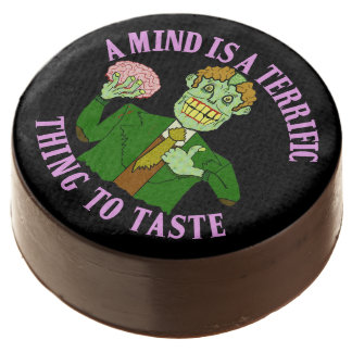 Funny Zombie Professor Proverb Chocolate Dipped Oreo