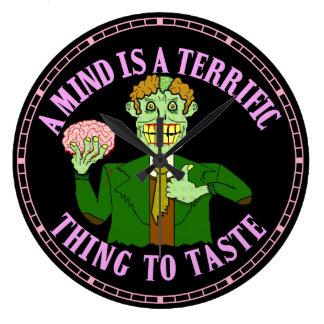 Funny Zombie Professor Proverb Clock