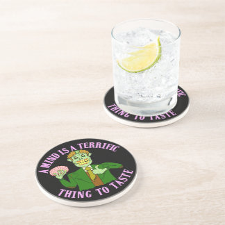 Funny Zombie Professor Proverb Drink Coasters