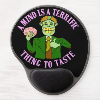 Funny Zombie Professor Proverb Gel Mouse Pad