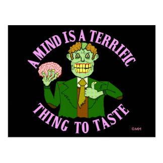 Funny Zombie Professor Proverb Postcard