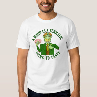 Funny Zombie Professor Proverb T-shirts