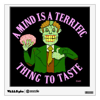 Funny Zombie Professor Proverb Wall Decal