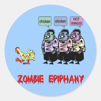 Funny zombie sticker