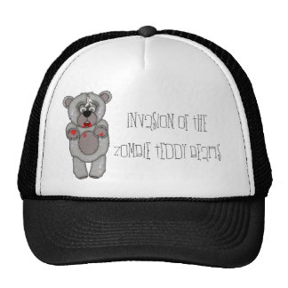 Funny Zombie Teddy Bear Invasion Hat
