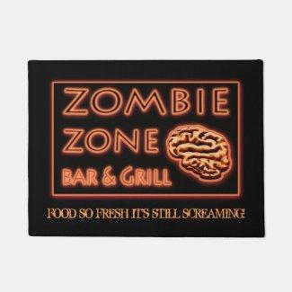 Funny Zombie Theme Halloween Doormat