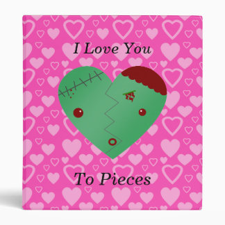 Funny zombie valentine's day gifts 3 ring binder
