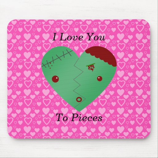 Funny zombie valentine's day gifts mousepad