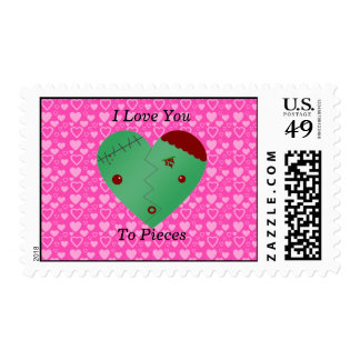 Funny zombie valentine's day gifts stamps