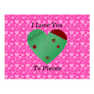Funny zombie valentine's day gifts post card