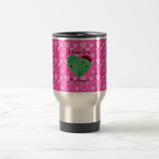 Funny zombie valentine's day gifts travel mug