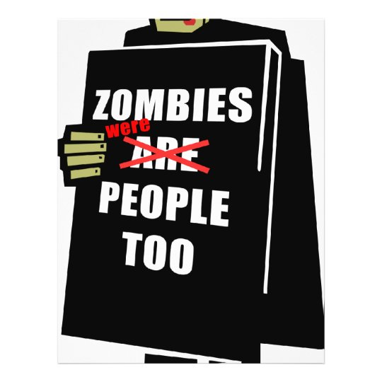 Funny Zombie, Zombie Were People Too Flyer