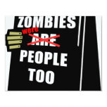 Funny Zombie, Zombie Were People Too Personalized Announcements