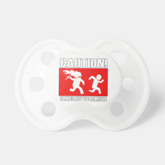 Funny Zombies Flammable Pacifier