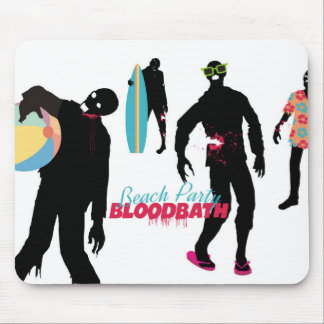 Funny zombies summer fun beach party mousepad