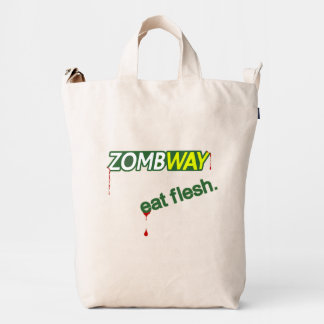 Funny Zombway Eat Flesh Zombie Tote Duck Bag