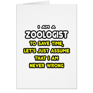 Funny Zoologist T-Shirts and Gifts Cards