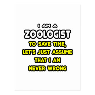 Funny Zoologist T-Shirts and Gifts Post Cards