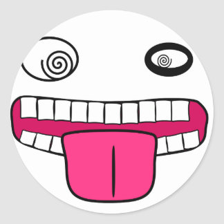 FunnyGuyWhite Round Stickers