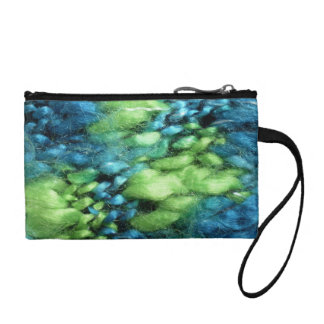 FunnyPhoto Blue&Green Knitted Pattern Coin Purses