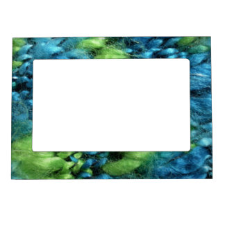 FunnyPhoto Blue&Green Knitted Pattern Magnetic Picture Frame