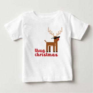 FunnyThug life Rudolph Reindeer Xmas Baby T-Shirt