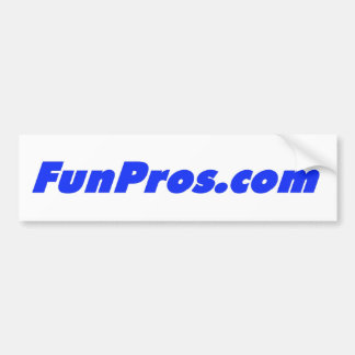 FunPros.com bumper sticker! Bumper Sticker