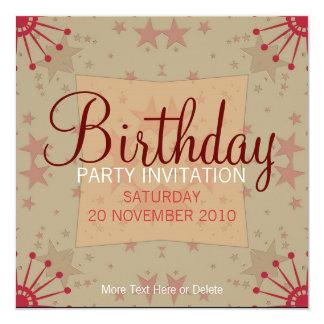 FunStars Party Birthday Invitation