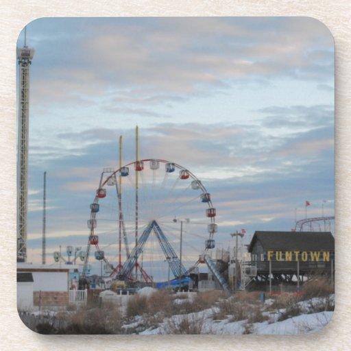 Funtown Pier Seaside Heights Drink Coaster
