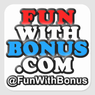 FunWithBonus.com Square Stickers
