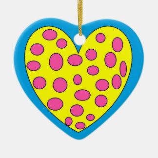Funy heart ceramic ornament