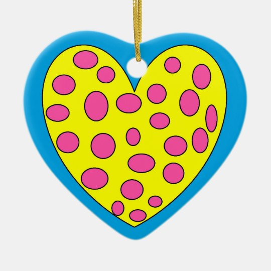Funy heart ceramic ornament
