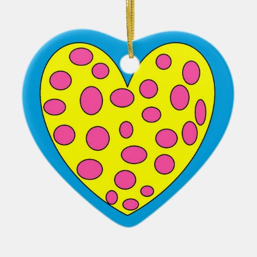 Funy heart enfeites para arvores de natal