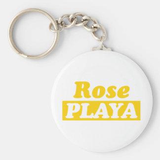 Funy Rose Playa Golden Keychain
