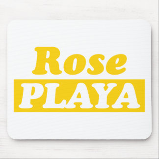 Funy Rose Playa Golden Mouse Pad