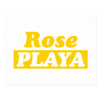 Funy Rose Playa Golden Post Card