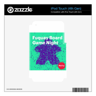 Fuquay Game Night Logo iPod Touch 4G Decal