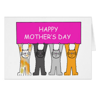 Fur babies Mother's Day. Card