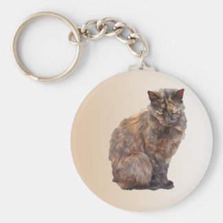 Fur Coat Cat Keychain