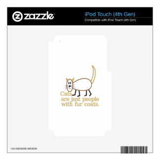 Fur Coats iPod Touch 4G Skins